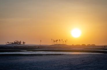 Sunset over Jericoacoara NP