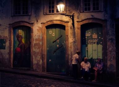 3 men and graffiti