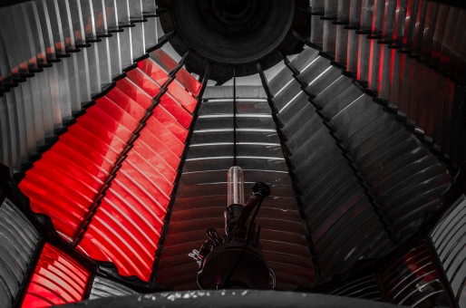 Inside a lighthouse